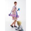 Pocket Trailer kismotor/futóbicikli hordozó - szürke-rózsaszín (fényvisszaverő nélkül)