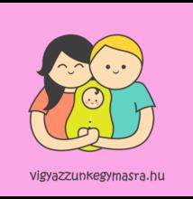 Autómágnes - család 1 gyerekkel rózsaszín