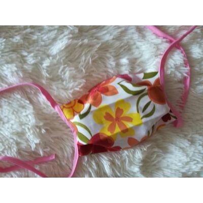 Textil mosható arcmaszk - virágos
