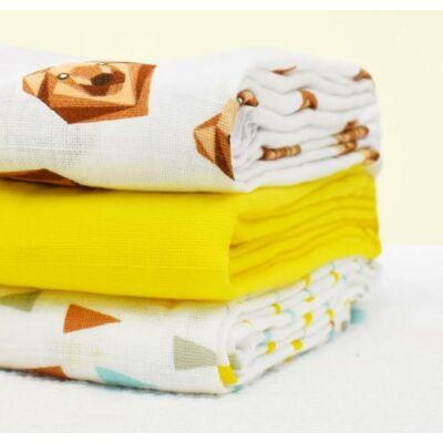 Bambino Mio muszlin tetra pelenka, textilpelenka 3 darabos (grizzly medvés)