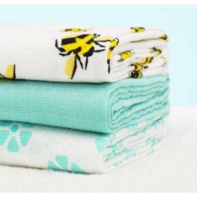 Bambino Mio muszlin tetra pelenka, textilpelenka 3 darabos (méhecskés)