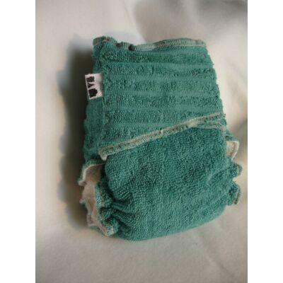 Nadi M-es pamut frottír mosható pelenka belső (7-13 kg) zöldeskék