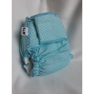 Nadi L-es dekor vásznas mosható pelenka belső (11-16 kg) kék pöttyös