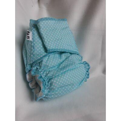 Nadi M-es dekor vásznas mosható pelenka belső (7-13 kg) kék pöttyös