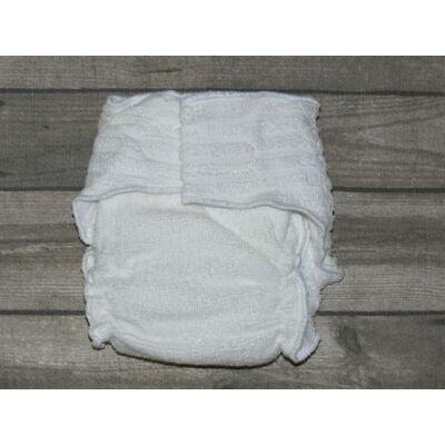 Nadi M-es pamut frottír mosható pelenka belső betéttel (7-13 kg) fehér