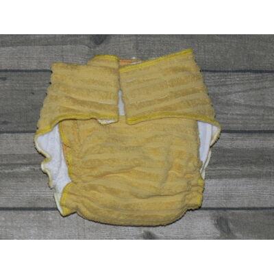 Nadi M-es pamut frottír mosható pelenka belső (7-13 kg) mustársárga