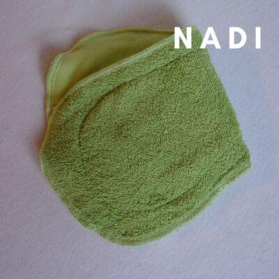 Nadi pamut frottír  turbó betét (35x14 cm) zöld