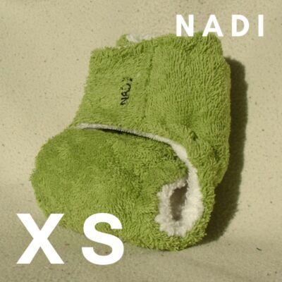 Nadi XS-es pamut frottír mosható pelenka belső  (3-6 kg) zöld