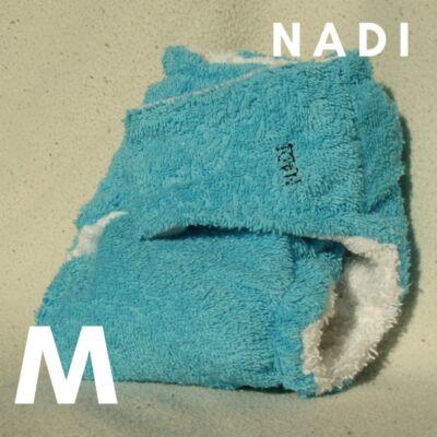Nadi M-es pamut frottír mosható pelenka belső (7-13 kg) türkiz
