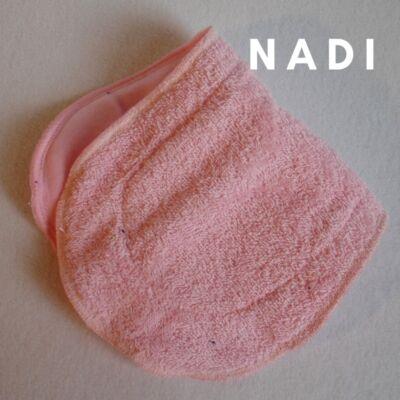 Nadi pamut frottír  turbó betét (35x14 cm) rózsaszín