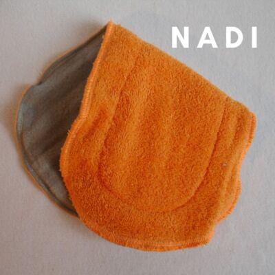 Nadi pamut frottír turbó betét (35x14 cm) narancs