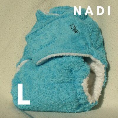 Nadi L-es pamut frottír mosható pelenka belső (10-16 kg) türkiz