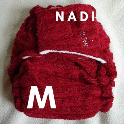 Nadi M-es pamut frottír mosható pelenka belső (7-13 kg) piros
