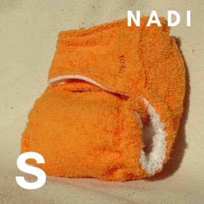 Nadi S-es pamut frottír mosható pelenka belső (5-9 kg) narancs
