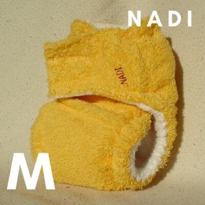 Nadi M-es pamut frottír mosható pelenka belső (7-13 kg) sárga