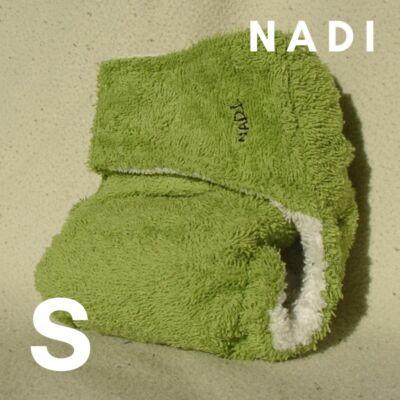 Nadi S-es pamut frottír mosható pelenka belső (5-9 kg) zöld