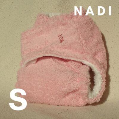 Nadi S-es pamut frottír mosható pelenka belső (5-9 kg) rózsaszín