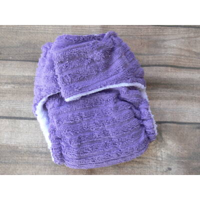 Nadi L-es pamut frottír mosható pelenka belső (10-16 kg) lila
