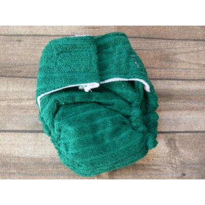 Nadi L-es pamut frottír mosható pelenka belső (10-16 kg) sötétzöld