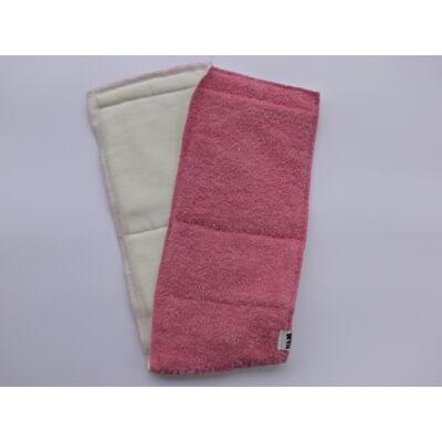 Nadi 3 rétegű pamut frottír hajtogatós hosszú pelenka betét (rózsaszín)