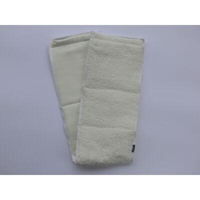 Nadi 3 rétegű pamut frottír hajtogatós hosszú pelenka betét (fehér)