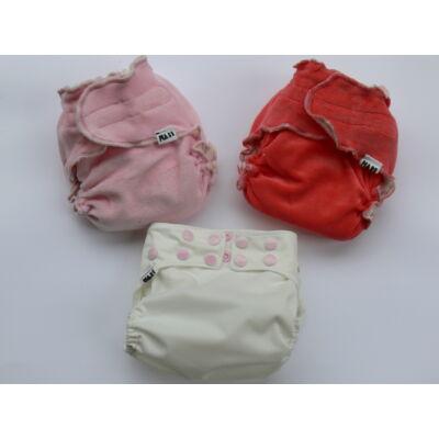 Nadi újszülött mosható pelenka ajándék csomag - lányos rózsaszín