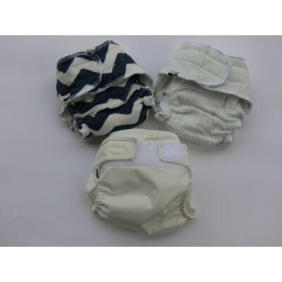 Nadi újszülött mosható pelenka ajándék csomag - fiús szürke