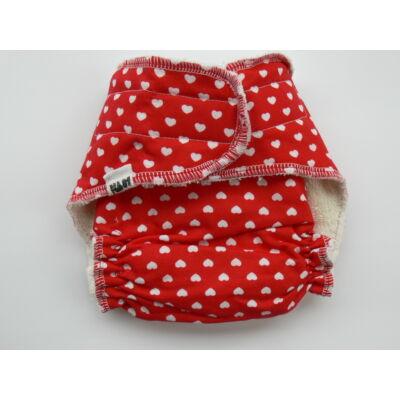 Nadi XS-es dekor vásznas mosható pelenka belső (3-6 kg) szíves