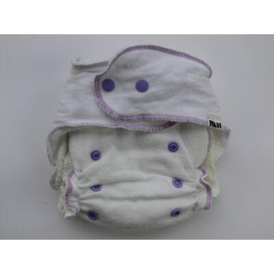 Nadi S-es dekor vásznas mosható pelenka belső (3-9 kg) fehér