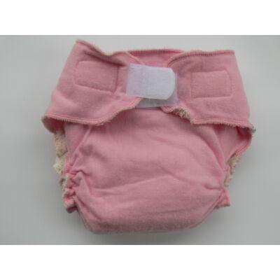 Nadi M-es dekor vásznas mosható pelenka belső (7-13 kg) rózsaszín