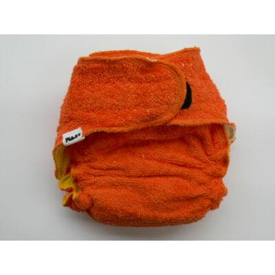 Nadi M-es pamut frottír mosható pelenka belső (7-13 kg) narancs-citrom