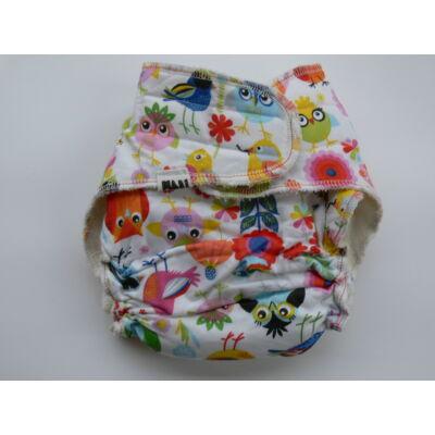 Nadi M-es dekor vásznas mosható pelenka belső (7-13 kg) madaras