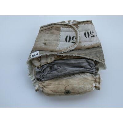 Nadi M-es dekor vásznas mosható pelenka belső (7-13 kg) deszkás