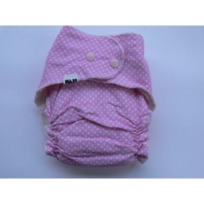 Nadi L-es dekor vásznas mosható pelenka belső (11-16 kg) rózsaszín pöttyös