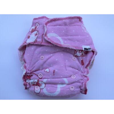 Nadi egyméretes dekor vásznas mosható pelenka belső (4-15 kg) rózsaszín egeres