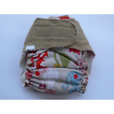 Nadi egyméretes dekor vásznas mosható pelenka belső (4-15 kg) színes cicás