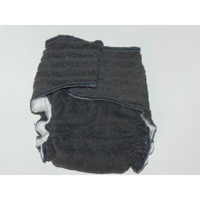 Nadi M-es pamut frottír mosható pelenka belső (7-13 kg) sötétszürke