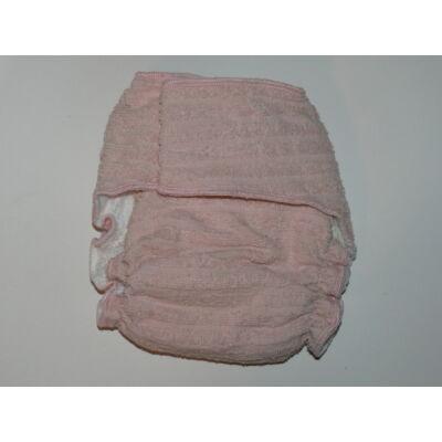Nadi M-es pamut frottír mosható pelenka belső (7-13 kg) rózsaszín
