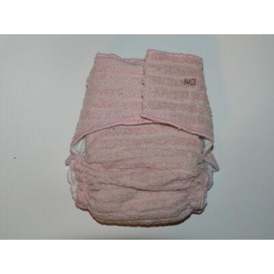 Nadi L-es pamut frottír mosható pelenka belső (11-16 kg) rózsaszín