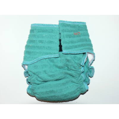 Nadi L-es pamut frottír mosható pelenka belső (11-16 kg) zöldeskék