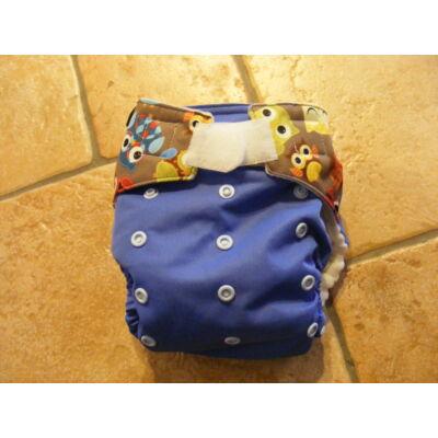 NORKA egyméretes zsebes mosható pelenka (4-16kg) -kék baglyos