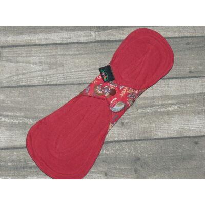 Norka női mosható éjszakai/gyermekágyas/inkontinencia  betét 28 cm-es (piros virágos)