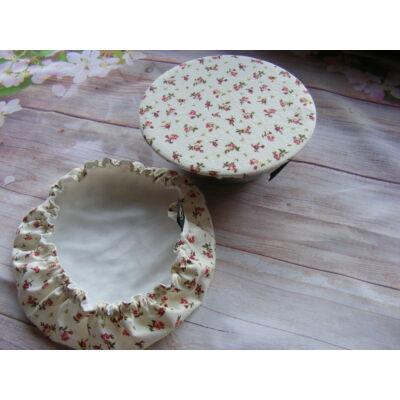 Norka Edénysapka szett - bordó virág mintás (2 darabos)