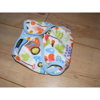 NORKA limitált mintájú mosható pelenka külső (3-9 kg) - farmos