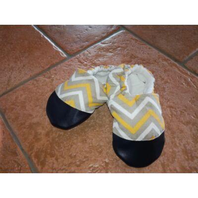 NORKA puhatalpú kiscipő - cikkcakkos (bth:14 cm)