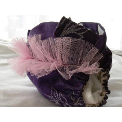 NORKA kendős hibrid mosható pelenka + 2 csónak (lila fodros)