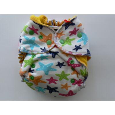 Norka egyméretes pamutos mosható pelenka belső (6-16 kg) csillagos patentos