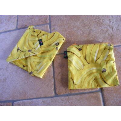 NORKA  mosható szalvéta és csemegés tasak maxi szett - banános