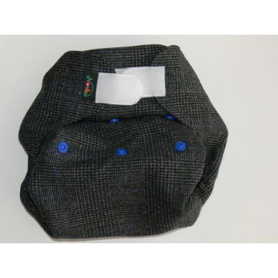 Norka dupla rétegű egyméretes gyapjúszövet pelenka külső (szürke kockás)
