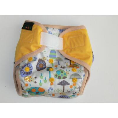 NORKA limitált mintájú mosható pelenka külső (3-9 kg) - csigás